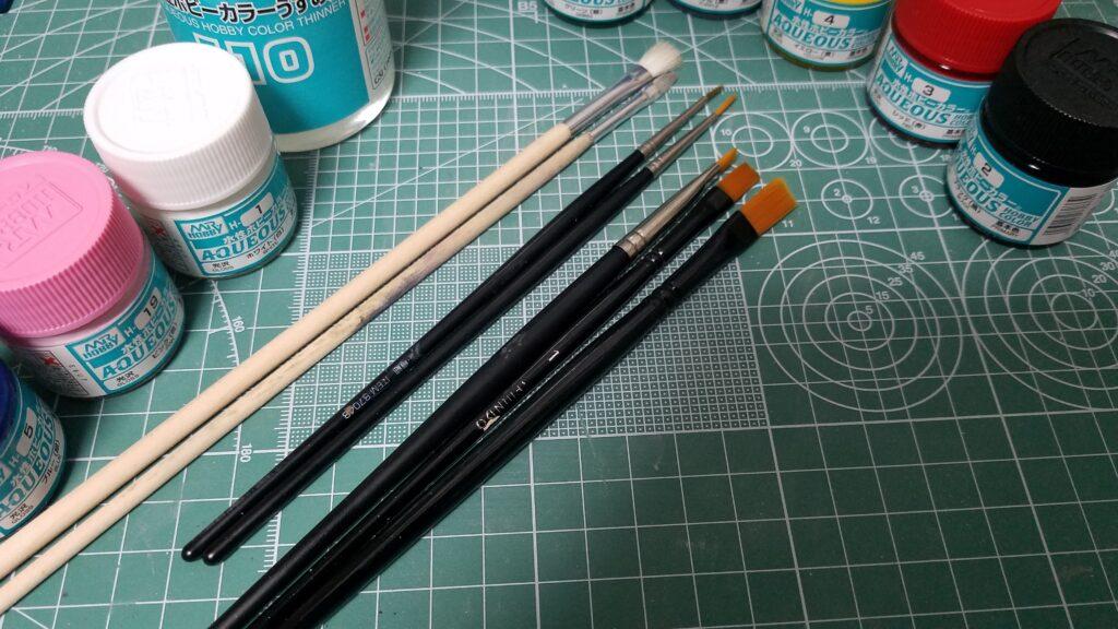 塗装のすすめ~筆編~ 筆の種類